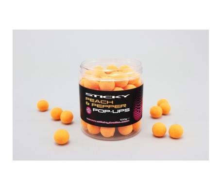 Sticky Baits Peach & Pepper Pop-Ups