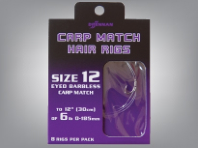 Drennan Carp Match Hair Rigs Barbless