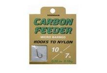 Drennan Carbon Feeder Barbed Hooks To Nylon