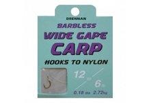 Drennan Barbless Wide Gape Carp Hooks To Nylon